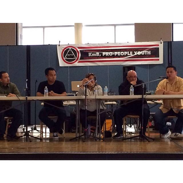 Empire of Funk panel: Mark V, DJ Icy Ice, DJ Kuttin Kandi, DJ Rhettmatic, and Mark Pulido (photo credit: DJ Icy Ice)